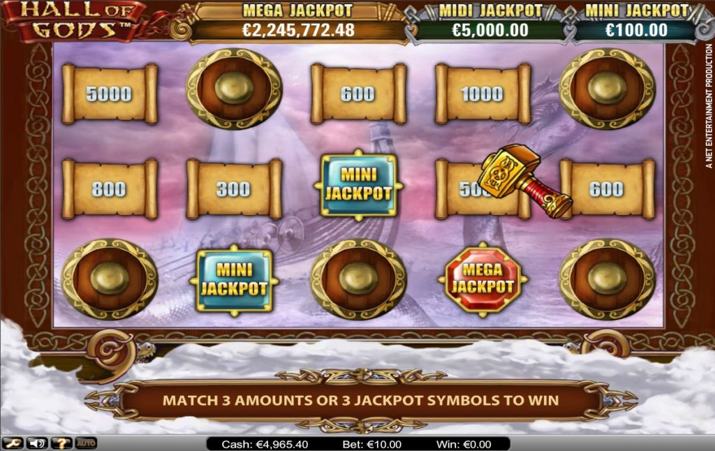 hall of gods video slots