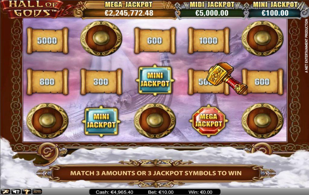 Hall Of God Jackpot Bonus Game