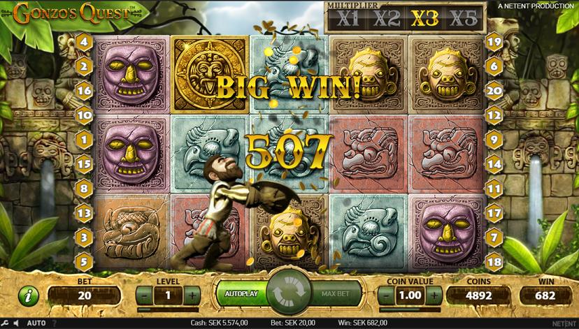 slots gonzo big win