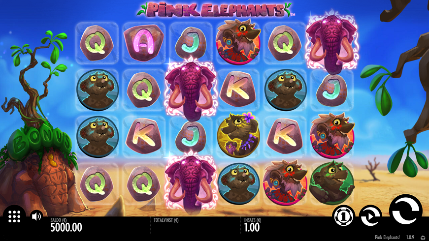 pink elephants video slot